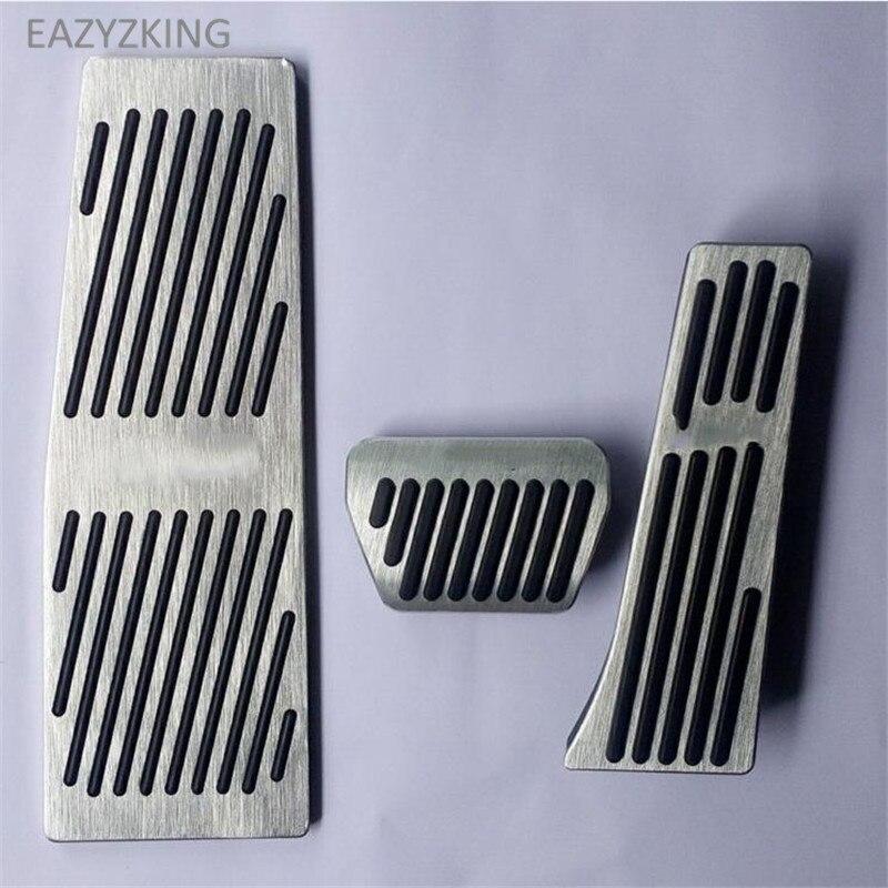 ALUMINUM Manual Fuel Brake Footrest Pedals fits E60 E61 E63 E64 5 6 series BLACK