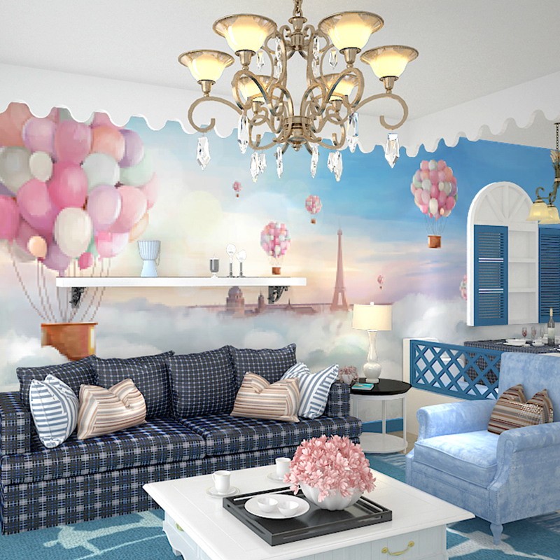 3d sereo heat balloon wallpaper child bedroom living for 3d baby room design