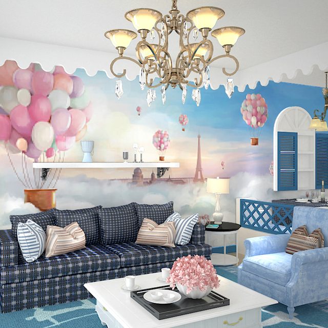 Exceptional 3D Sereo Heat Balloon Wallpaper Child Bedroom Living RoomTV Background Wall  Decor Wallpaper Mural 3d Room