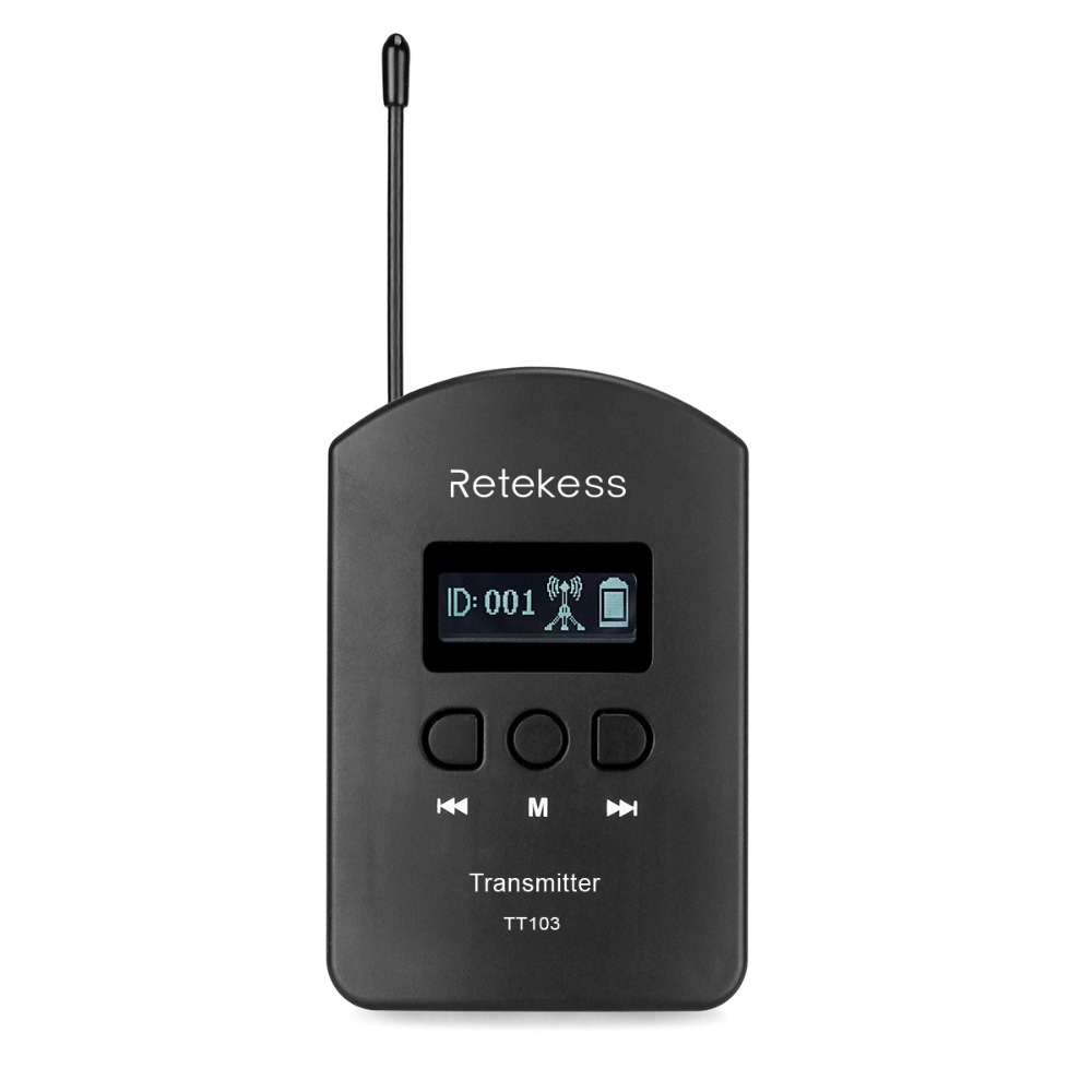 RETEKESS TT103 UHF Wireless Transmitter 200 Channels For Tour Guide System Meeting Church Simultaneous interpreting F9449A
