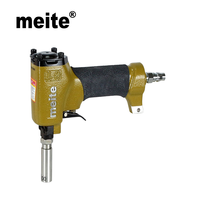 MEITE nail gun 0960 in head diameter 9.6mm pneumatic air nailer gun for the decoration of furniture,shoes Sep.9 update tool high quality meite f32 pneumatic nail gun air stapler gun nailer tools for decoration leather shoes