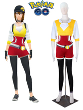 Pocket Monster Pokemon GO Team Female Trainer Cosplay Costume Yellow