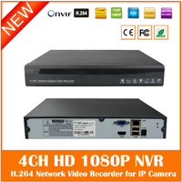 Full HD 1080P CCTV NVR 1 SATA Port Output 4CH NVR For IP Camera Surveillance System