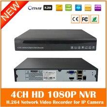 Hd 1080p Cctv Metal Nvr 4ch 1 Sata Port For Ip Camera Surveillance System Onvif H.264 Hdmi Video Record Us Power Freeshipp