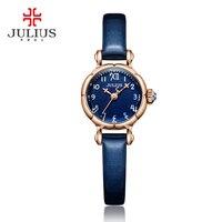Mini Cute Pumpkin Design Julius Lady Children Women's Watch Japan Quartz Hours Top Fashion Leather Clock Girl's Gift 969