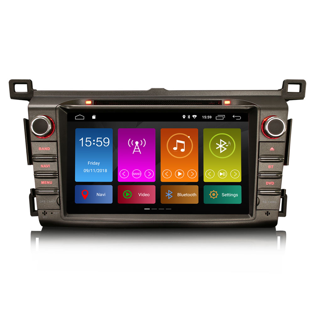 """8"""" Quad-Core Android 9.0 Pie OS Car DVD Multimedia Navigation GPS Radio for Toyota RAV4 2013 2014 2015 with 3G/4G Dongle Support(China)"""