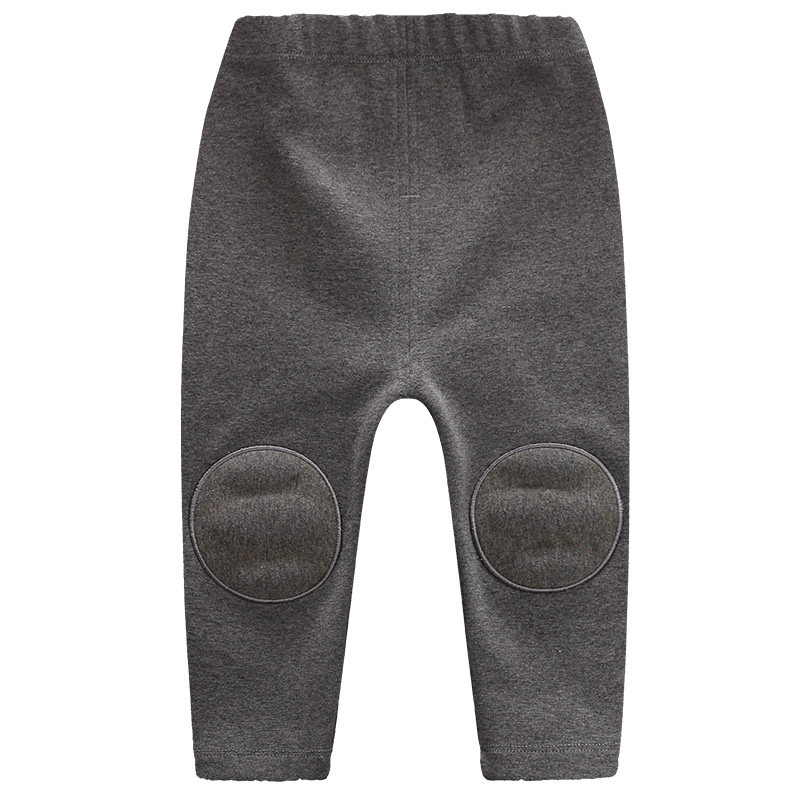 YiErYing Baby Boys Girls Winter Pants Cotton Newborn Thicken Warm Leggings Trousers Toddler Knee For Infant Casual Sports Pants