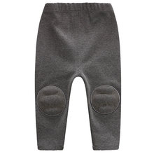 YiErYing baby Boys girls winter pants Cotton Newborn Thicken warm Leggings trousers Toddler knee for infant casual sports