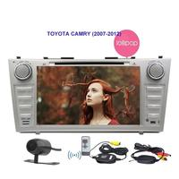 for TOYOTA CAMRY in Dash car DVD Player Headunit Android 5.1.1 3D GPS Navigation Dual-zone Wireless Reverse Camera with 800480
