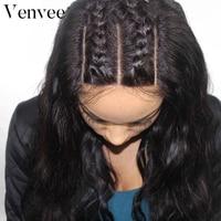 180 плотность тела волна Full Lace человеческих волос парики для Для женщин черный натуральный бразильский парик предварительно сорвал с для вол