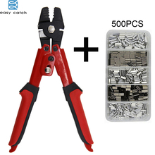 EASY CATCH high Carbon Steel fishing pliers Tool Kit fish Terminal Crimpers for fishing line with Crimper Sleeves цена 2017