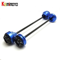 KEMiMOTO For YAMAHA MT 09 TRACER MT09 MT 09 2017 Front And Rear Axle Crash Mushrooms