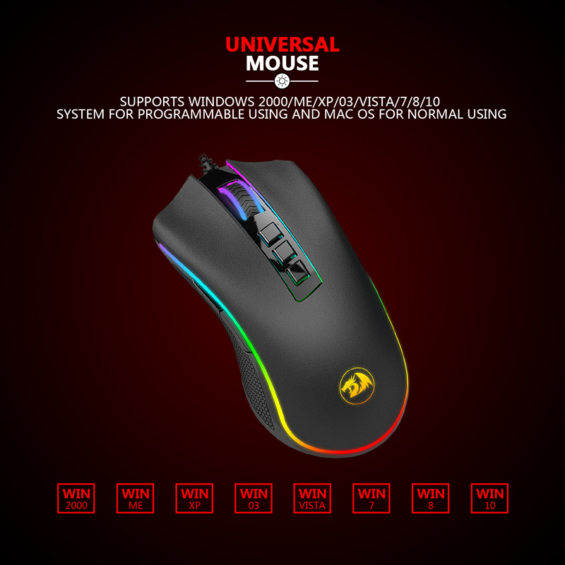 Redragon M711 FPS COBRA Gaming Mouse Pixart 3360 Optical Gaming Sensor 16 8 Million Chroma RGB
