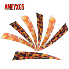 50/100pcs Archery 4inch Arrow Feathers Turkey Feather Right Wing Vanes Flame Fletches For Bow Hunting Shooting Accessories