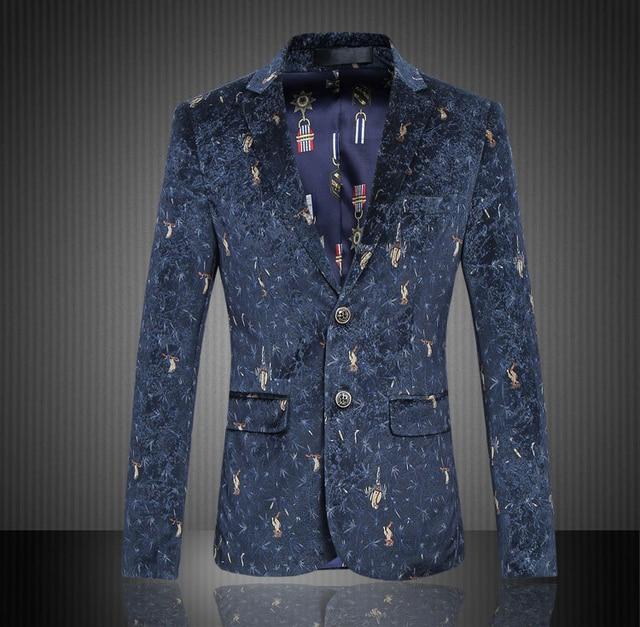 aliexpress : buy luxury 2017 men business blazer suit floral