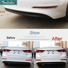 Tonlinker 2 PCS Car Styling ABS Chrome Mirror Rear fog light Decorative Light Box Cover Case Stickers for Hyundai ELANTRY 2017