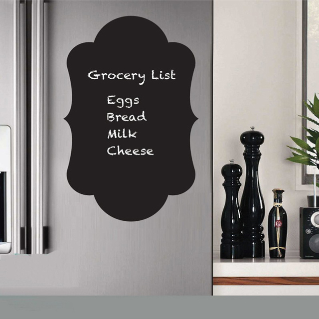 creatively fridge sticker magnet butterfly chalkboard vinyl wall