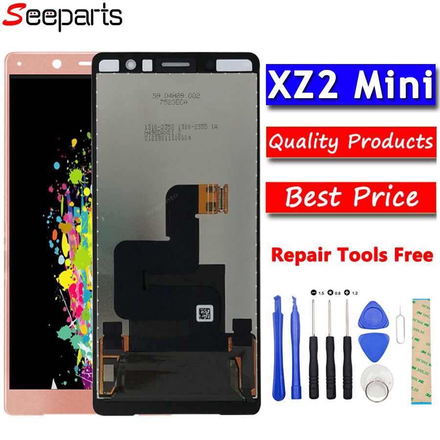 100% Tested 5.0'' For Sony Xperia XZ2 Compact LCD Display Touch Screen Digitizer Assembly Replacement For Sony XZ2 Mini LCD