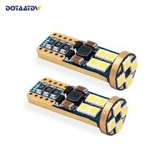 DOTAATDW 2x t10 LED Bulb w5w led Lamp Car Lights Interior Super Bright 12 3030 SMD 194 168 12V 6000K White Turn Signal