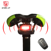 4 In 1 Anti theft Wireless Remote Control Bike lights Bicycle Taillights Bike Rear Bicycle pattern Lock Warner Bike