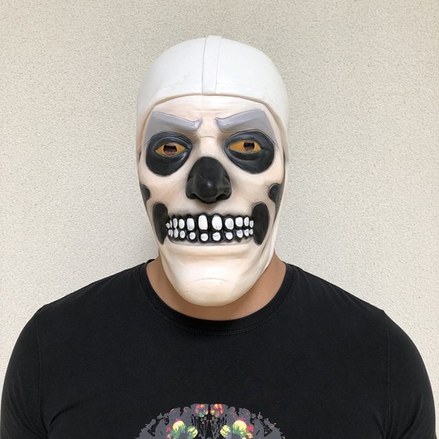 Game Skull Trooper Skin Cosplay Costumes Human Mask Halloween Party