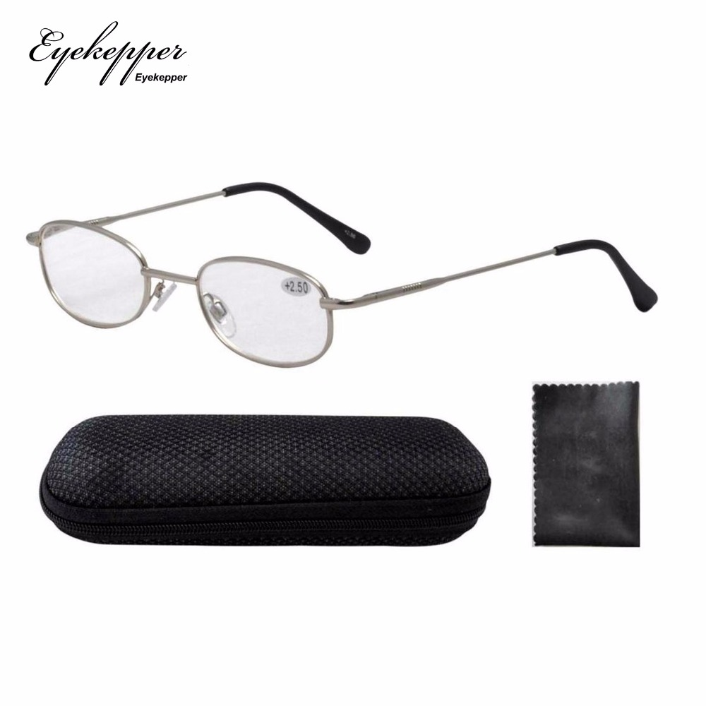 d515169fa2 R3211 Silver Metal Frame Spring Hinged Arms Reading Glasses Men Women  W case +1.0 +1.25 +1.50 +2.00 +2.25 +2.50 +2.75 +3.00 +3.5