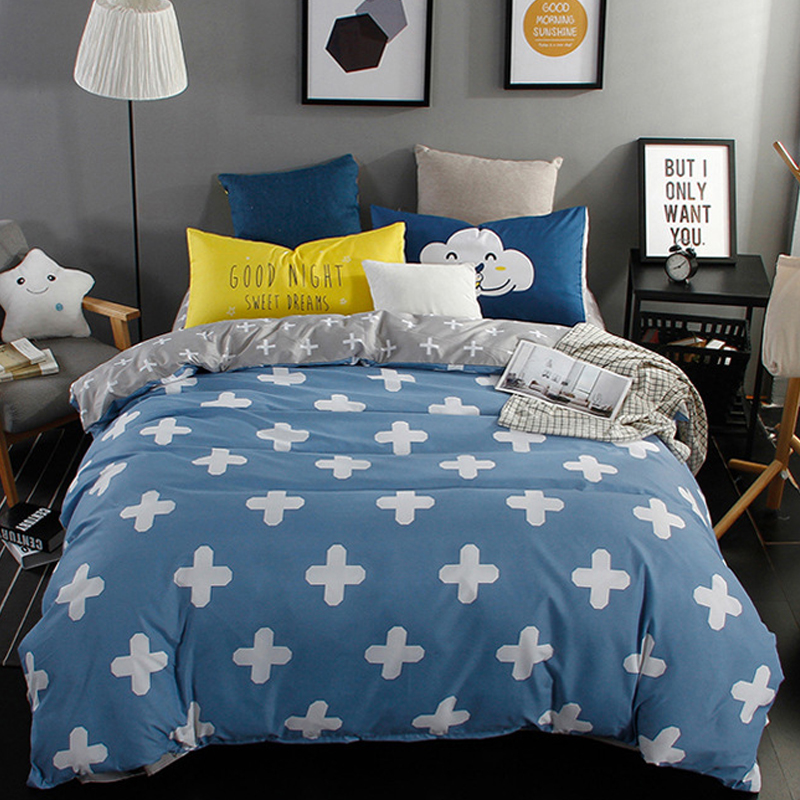 2017 New Nordic Style Bedding Set 3 4pcs Quilt Cover