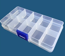 10 Grid can be remov transparent plastic small box kit storage box jewelry jewelry box font