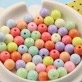 300 unids/lote Mezclado Chunky Gumball Bubblegum Acrílico Perlas Sólidas, Beads Gruesos de Colores para niños Collar de La Joyería 8mm (K01743)