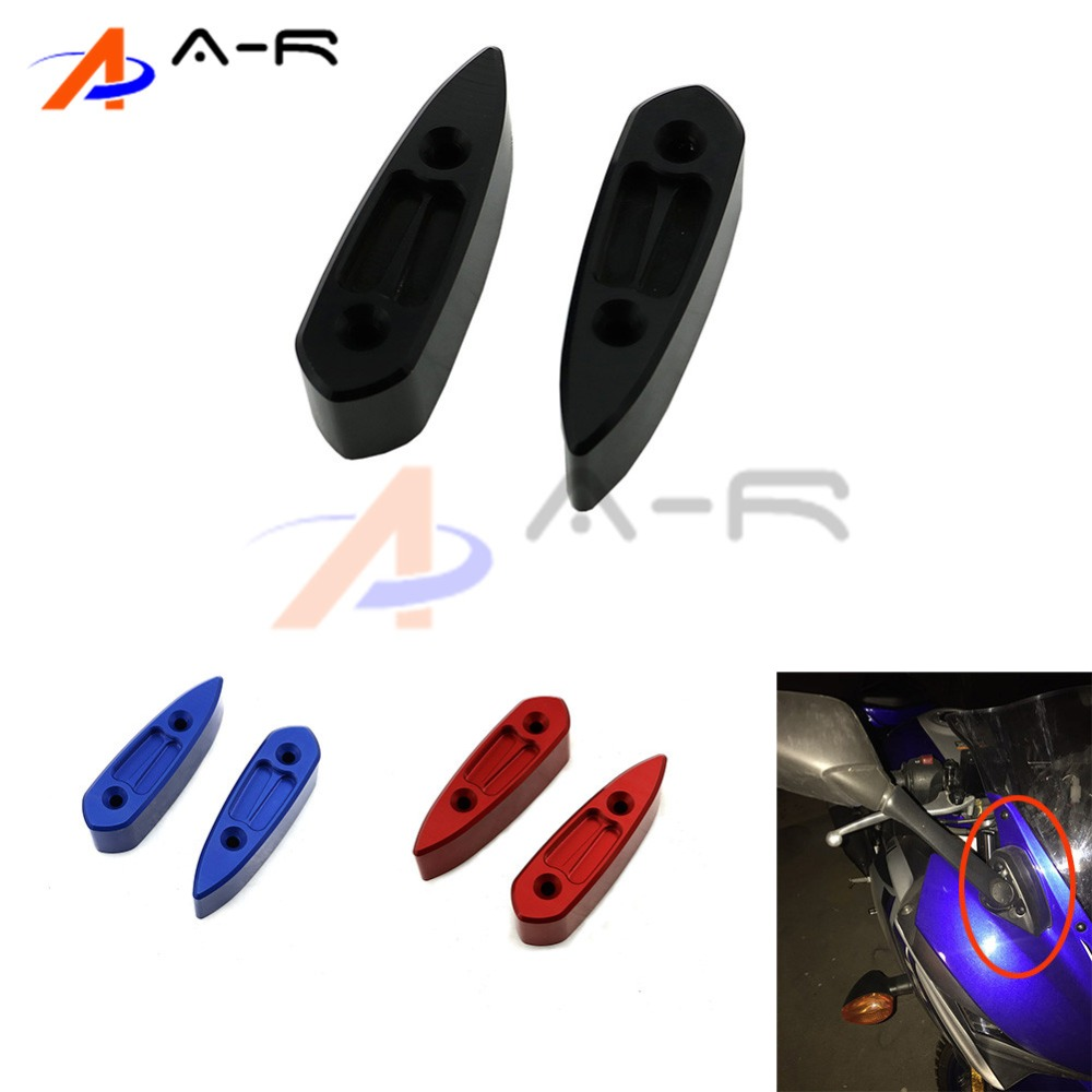 R25 R3 Motorcycle Mirror Riser Extenders Spacers Extension Adapter Adaptor for Yamaha YZF-R3 YZF-R25 2015 1.25 (32mm)