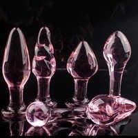 5 stil Kristall Butt Plugs Set Pyrex Glas Anal Dildo Ball Perle Gefälschte Penis Weibliche Masturbation Sex Spielzeug für Erwachsene frauen Männer Homosexuell