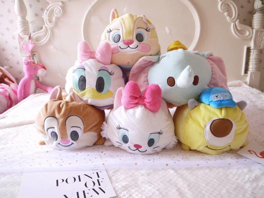 Cartoon Plush Toy Tsum Marie Cat Dumbo Monster Tissue Box Cover Paper Towel Cases Birthday Gift #1064