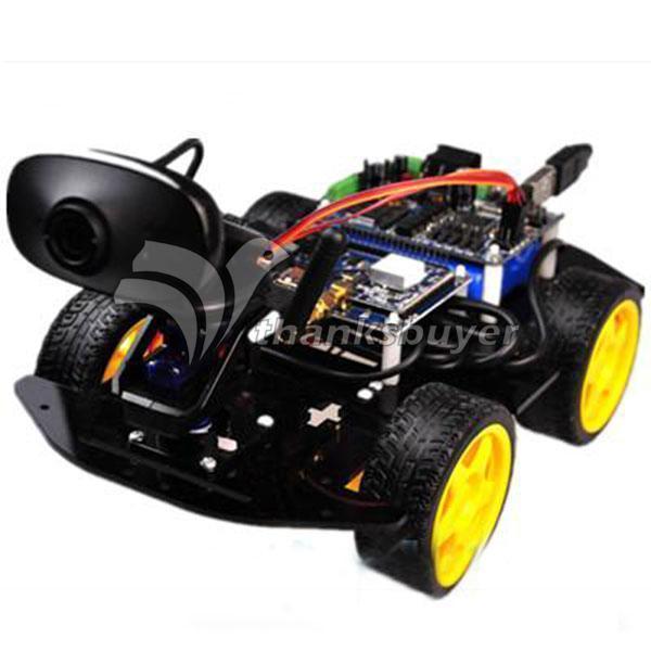 Wi-fi Смарт Робот Автомобилей Шасси Комплекты и 9 Г Видео Servo Gimbal для Конкуренции