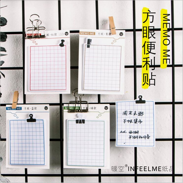 30 Pages/Pack Square grid note Sticky Notes Daily Agenda Planner Accessories Tool Index Sticky Memos Message Notes Scratch pad все цены