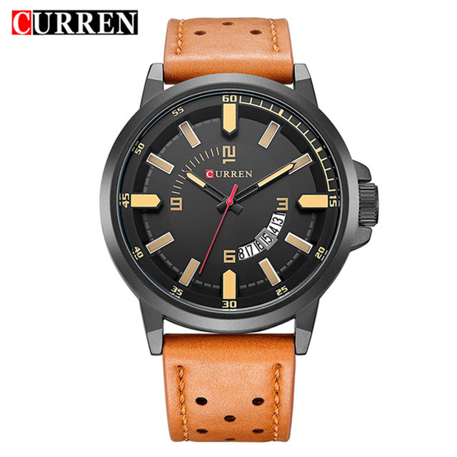 d3d18e70b57 Curren 2018 men watches relogio masculino luxury military wristwatches  fashion casual quartzwatch water Resistant calendar 8228