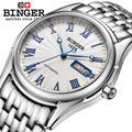 Switzerland watches men luxury brand Wristwatches BINGER luminous Mechanical Wristwatches  full stainless steel Waterproof B106