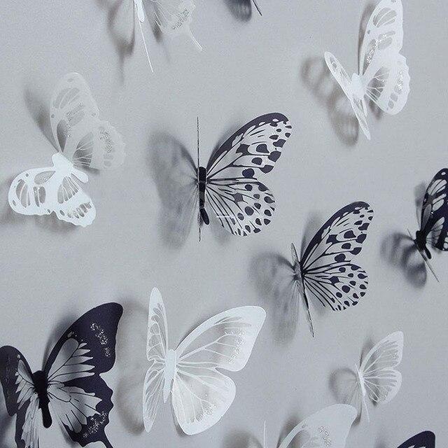 3D Black & Transparent Butterfly 18pcs 21*29.5cm/PC 4