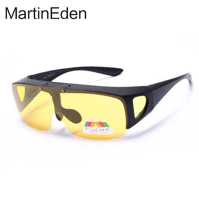 Lente dupla Clip On Noite de condução óculos polarizados óculos de sol Das  Mulheres dos homens 15defbe38a