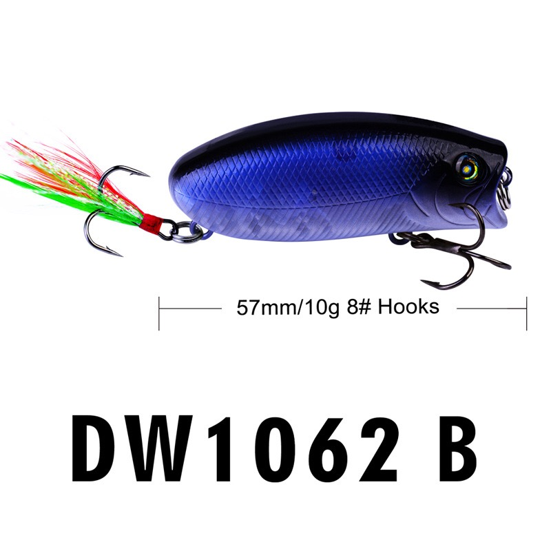 Image 5 - 1PCS mini popper lure 5.7CM 10G  lures trout ultralight fishing lure topwater bait finesse Crankbait Wobbler Minnow  Isca Poper-in Fishing Lures from Sports & Entertainment