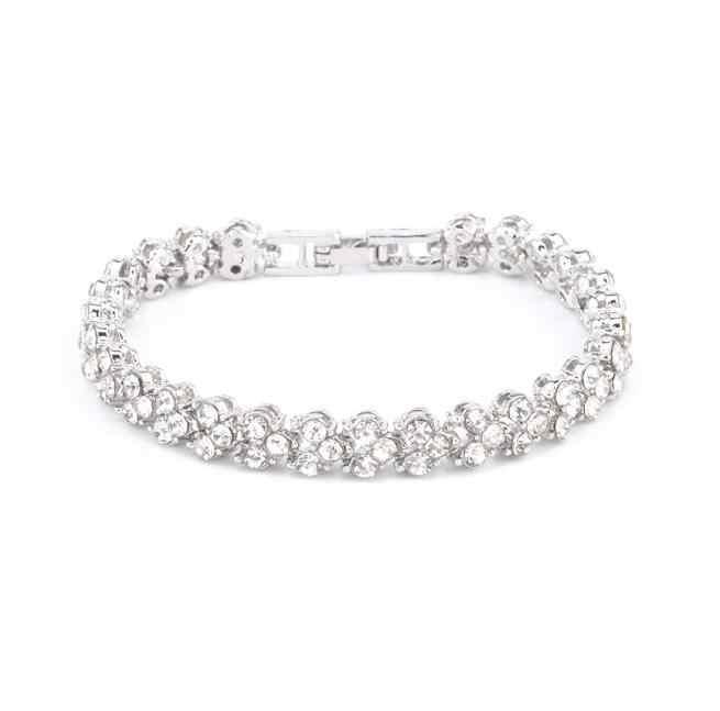 Высокое качество, хит 2018, модные свадебные ювелирные изделия, простые очаровательные хрустальные стразы, золотые, серебряные, розовые цвета, браслеты-манжеты для женщин
