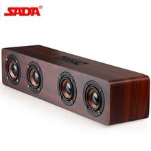 SADA Ретро деревянный беспроводной Bluetooth динамик портативный динамик MP3 компьютерные колонки коробка 3D громкий динамик s usb зарядка enceinte