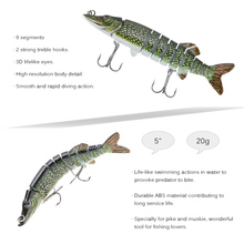 12.5cm 20g Winter Fishing Lure 3D Eyes Wobbler Pike Fish Lure Isca Artificial Hard Bait With Hooks Carp Ice Fishing Tackle Pesca
