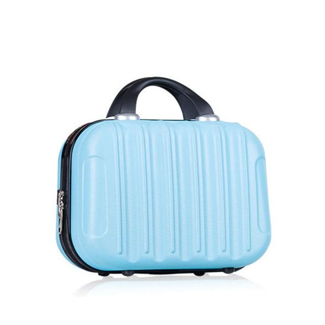 Lovely Fashion Casual Girl Korean Mini Suitcase Business Case Boxes Storage  Box Organizer Makeup Bag Hard