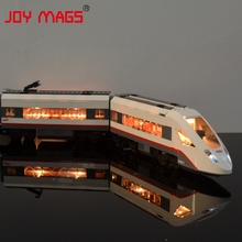 JOY MAGS Only Led Light Up Kit For Trains High Speed Passenge Building Blocks Compatible With