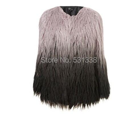 New 2014 Winter Woman S-XXXL jacket  Gradient Short Coat  Faux Fake Fur  Fashion Black Warm  Jacket Coat  Outwear Hot selling
