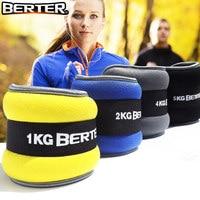 2pcs/1pair 2kg Leg Ankle Weights Straps Strength Training Exercise Fitness Equipment For Running Basketball Football
