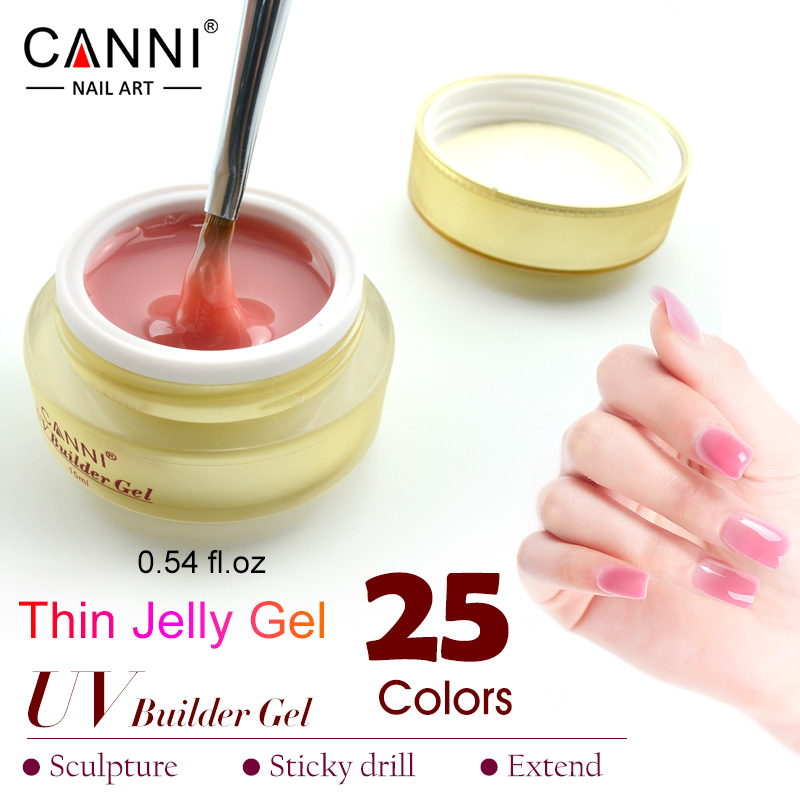 CANNI 15 ml camuflaje gelatina fina UV remoje 25 nude color UV Builder Gel de uñas de Gel, pollymer hacer coumuflage, uñas de gel 15 ml