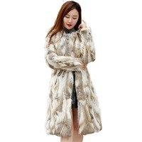 Рождественское платье, подлинное натуральное х-длинное пальто из кроличьего меха, Полный Пелт, для девушек, 90 см, длинное натуральное кролич...
