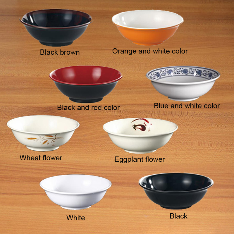 Melamine Dinnerware Anti Mouth Bowl Fast Food Restaurant Soup Bowl A5 Melamine Big Bowls Melamine Tableware