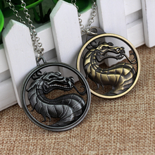 Mortal Kombat, ожерелье, игра, ювелирное изделие, кулон в виде дракона, ожерелье, модная цепочка, металлическая подвеска, чокер-колье